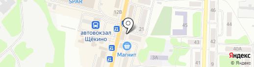Игроград на карте Щёкино