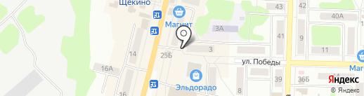 Лаура на карте Щёкино