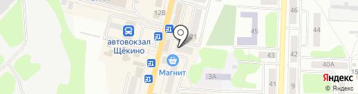 Соня на карте Щёкино