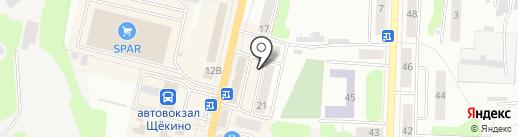 Орхидея на карте Щёкино