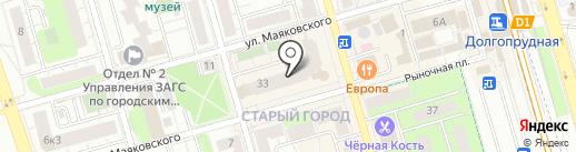 Дилижанс на карте Долгопрудного