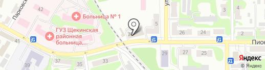 АвтоЛэнд на карте Щёкино