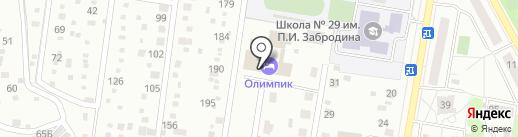 Олимпик на карте Подольска