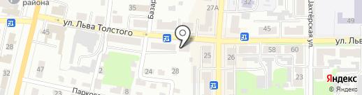 Магазин сантехники и систем отопления на карте Щёкино