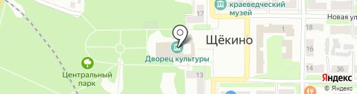 Щекинская городская централизованная бухгалтерия, МКУ на карте Щёкино