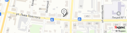 Лиса на карте Щёкино