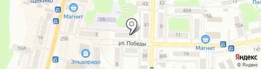 Кристина на карте Щёкино