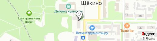 Банкомат, Россельхозбанк на карте Щёкино