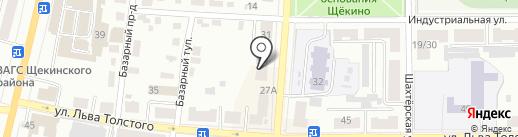 Проспект на карте Щёкино