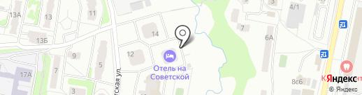 Апартаменты на Советской на карте Подольска