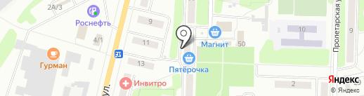 Магазин печатной продукции на ул. Ленина на карте Щёкино