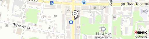 Чайка на карте Щёкино