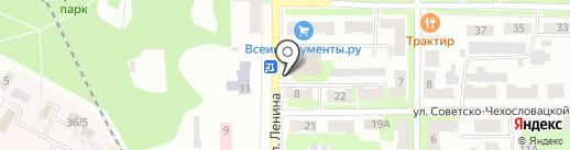 Гранд на карте Щёкино