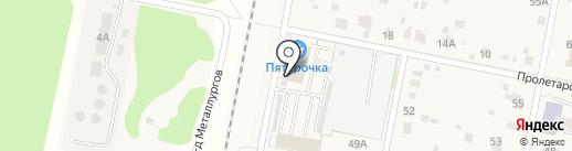 Автостоянка на карте Подольска