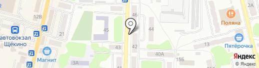 Магазин бытовой химии на карте Щёкино