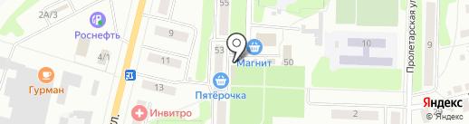 Киоск по продаже колбасных изделий на карте Щёкино