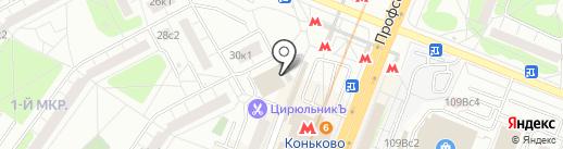 Монетка на карте Москвы