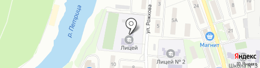 Лицей г. Климовска на карте Климовска