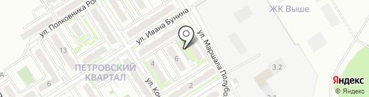 Петровский квартал на карте Петровского