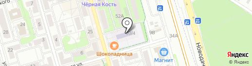 Школа №11 на карте Долгопрудного