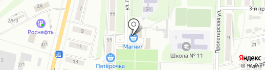 Банкомат, Райффайзенбанк на карте Щёкино
