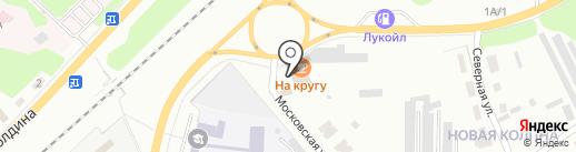 На кругу на карте Щёкино