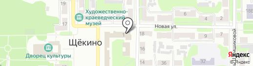 Проектная контора, ГАУ на карте Щёкино