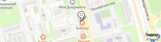 ИНВИТРО на карте Долгопрудного