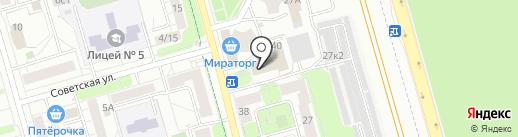 Мастерская по ремонту обуви и кожгалантереи на карте Долгопрудного