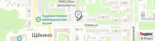 Щекинская компания технического обслуживания на карте Щёкино