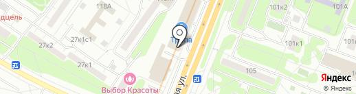 Магазин чулочно-носочных изделий на карте Москвы