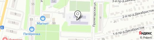 Средняя общеобразовательная школа №11 на карте Щёкино