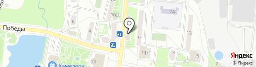 Валюша на карте Подольска