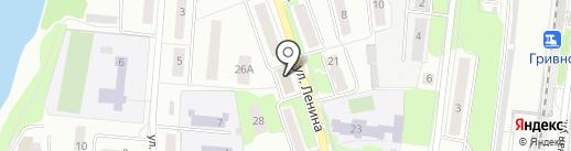 Магазин мясной продукции на ул. Ленина на карте Климовска
