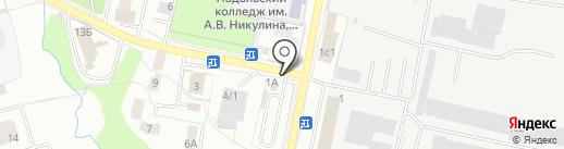 Автостоянка на ул. Ленина на карте Климовска