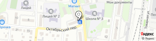 Орбита на карте Подольска