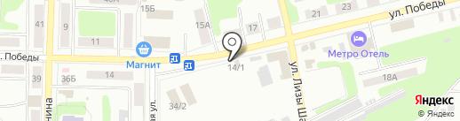 Магазин хлебобулочных изделий на ул. Победы на карте Щёкино