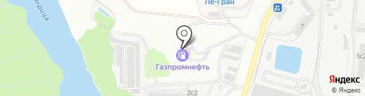 АЗС ТНК на карте Климовска
