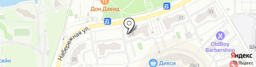 Малина на карте Долгопрудного