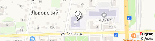 Лицей №1 на карте Львовского