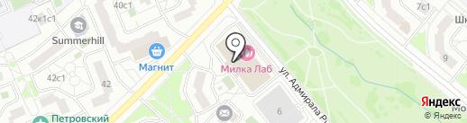 Мыслитель на карте Москвы