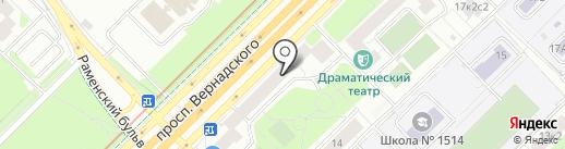 Верный на карте Москвы