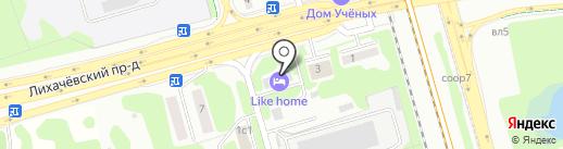 Растворительторг на карте Долгопрудного