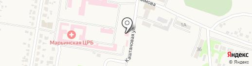 Марьинская центральная районная больница на карте Красногоровки