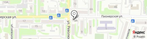 Магазин разливных напитков на карте Щёкино