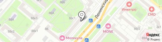Салон мебели на карте Москвы