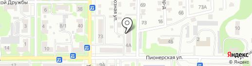 Тандем на карте Щёкино