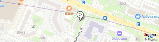 Брусника на карте Москвы