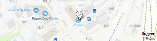 Тренажерный зал на карте Москвы