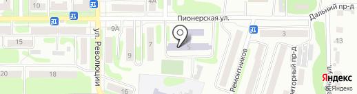Средняя общеобразовательная школа №20 на карте Щёкино